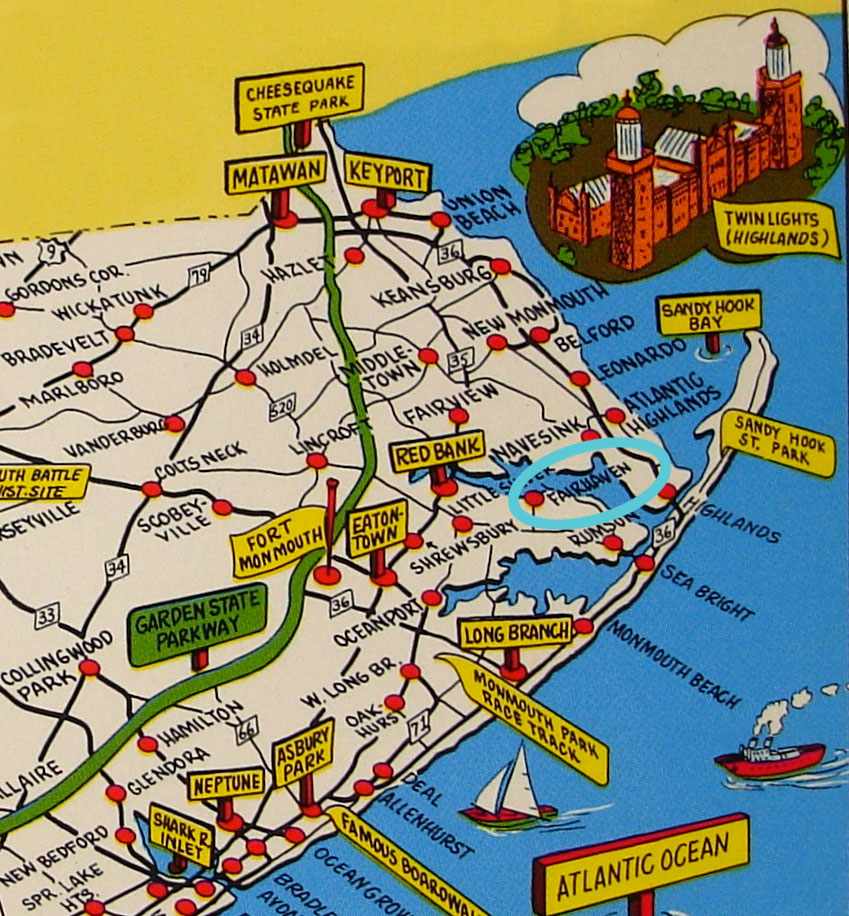 Map of Fair Haven in Monmouth County